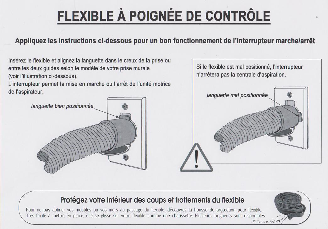 Flexible on off - aspirateur centralisé