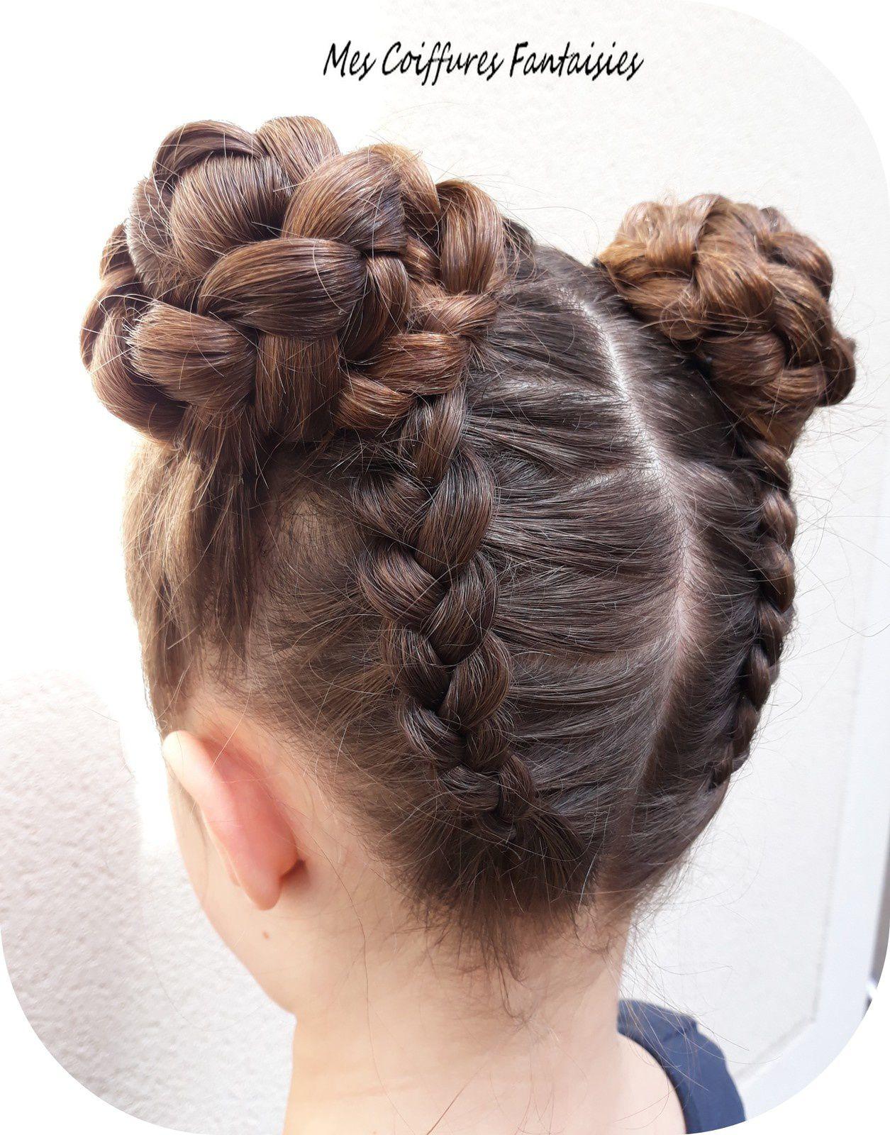 Coiffure Petite Fille 2 Chignons | Coiffures Cheveux Longs