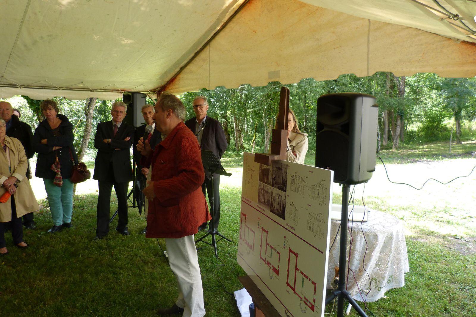 Inauguration officielle des travaux de sauvegarde du Prieuré de Lagrange