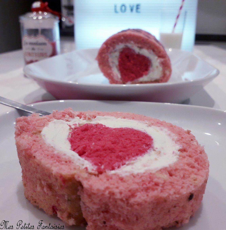 Gâteau roulé coeur Saint Valentin !