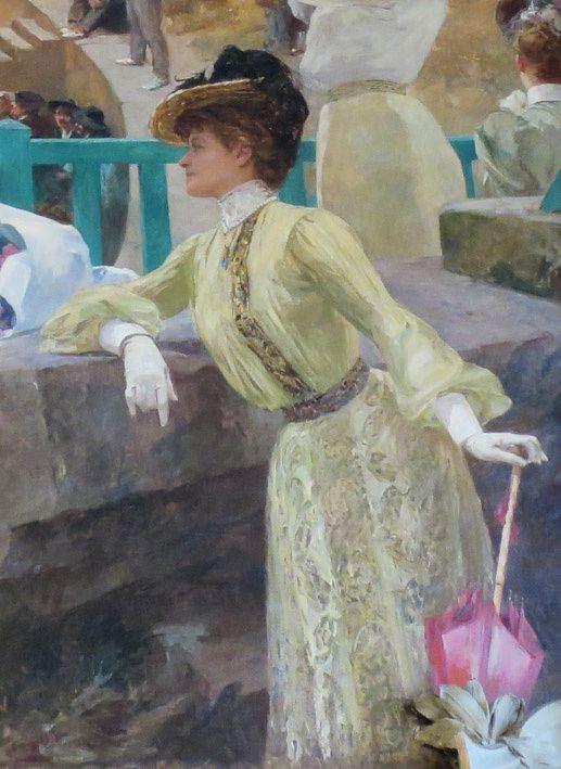 La comédienne Sarah Bernhardt dans le tableau d'Albert Maignan. Ph. Delahaye.