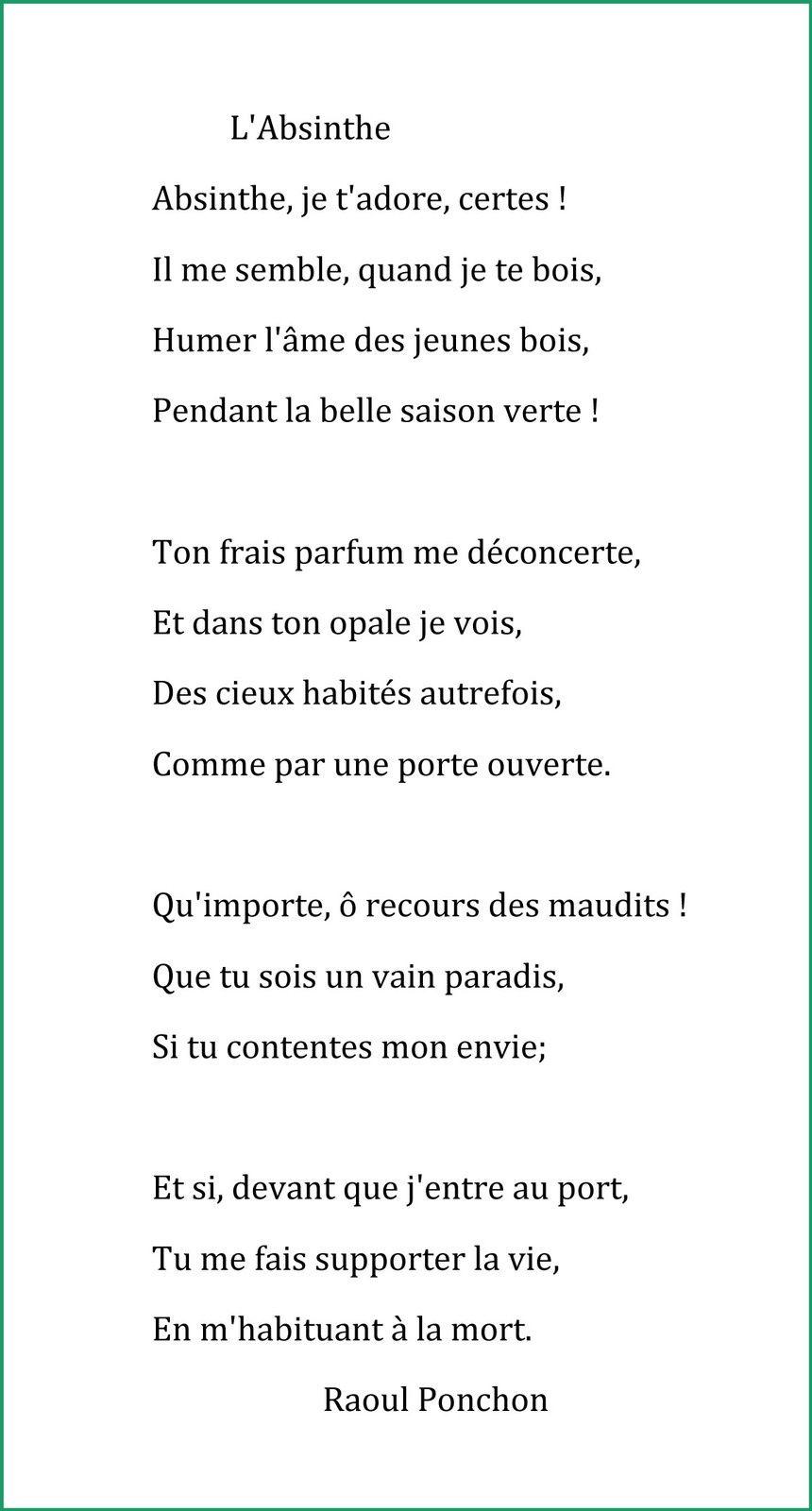 Poésie de Raoul Ponchon parue dans dans le Courrier Français, 1886. Doc. Delahaye.