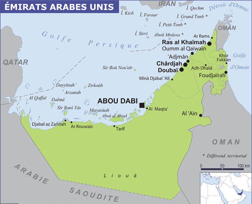 Al Aïn se situe à environ 150 km. à l'est d'Abu Dhabi.