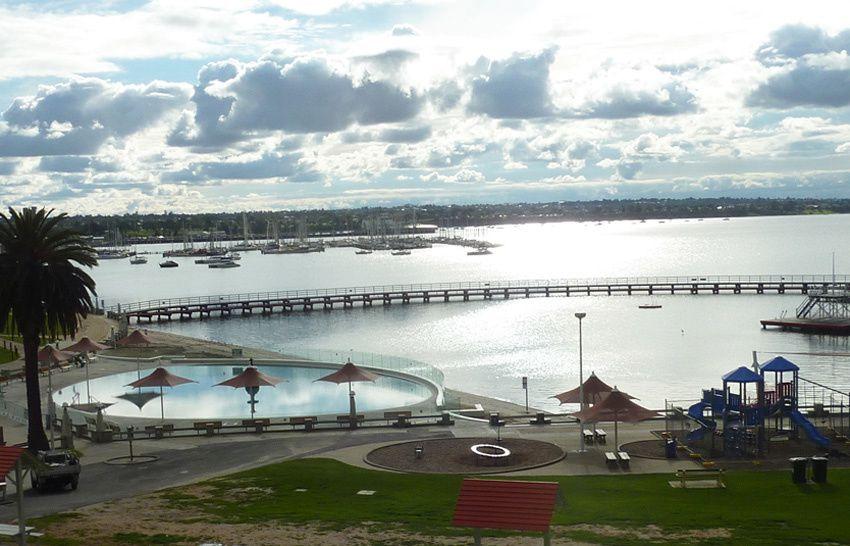 Geelong, à l'extrémité de la Baie de Port Pilipp. Ph. Delahaye.