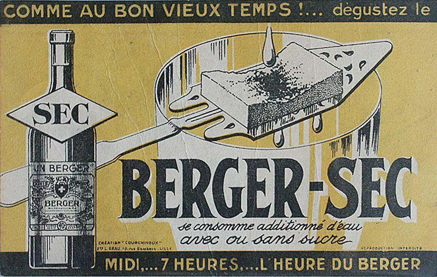 Affichette pour le Berger sec à 40°. Coll. privée.