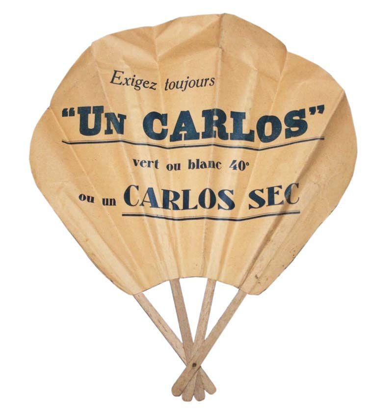 Éventail recto verso Un Carlos. Coll. privée.