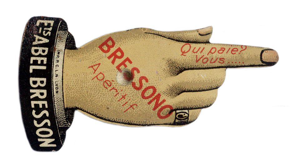 Après La Bressonide, boisson similaire de l'Absinthe, apparue en 1875, Abel Bresson proposera Le Bressono à partir de 1922. Coll. Normand.