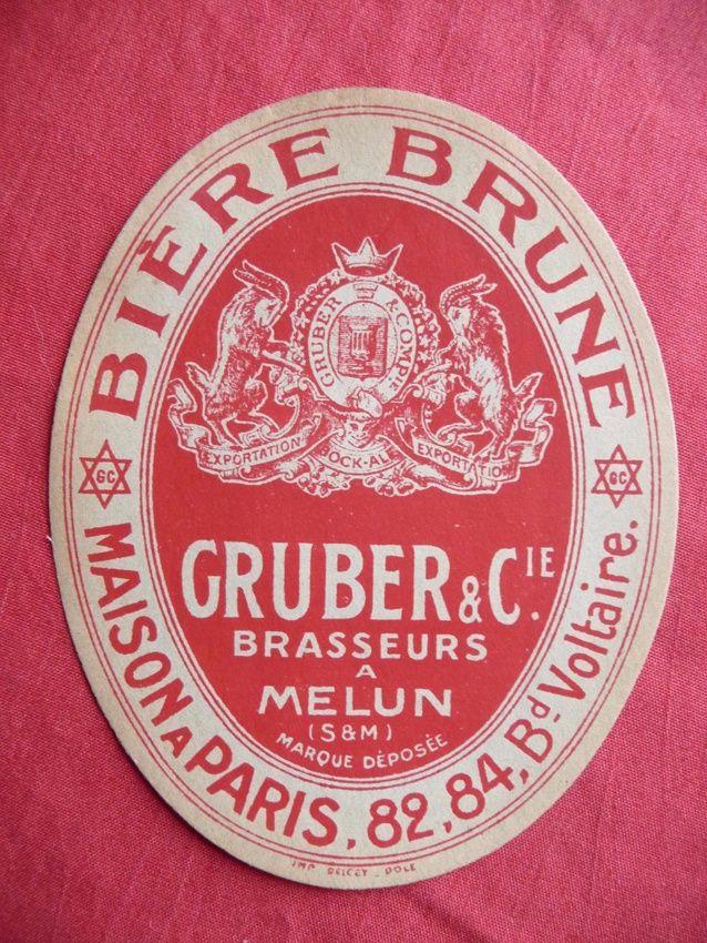 Brasserie Gruber et Cie à Melun. Coll. Alsabière-Ektablog.