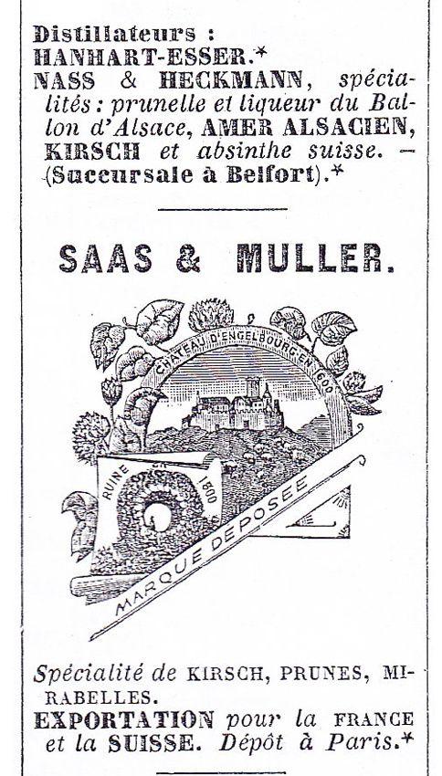 Annuaire du commerce de Thann, 1895. Doc. Delahaye.