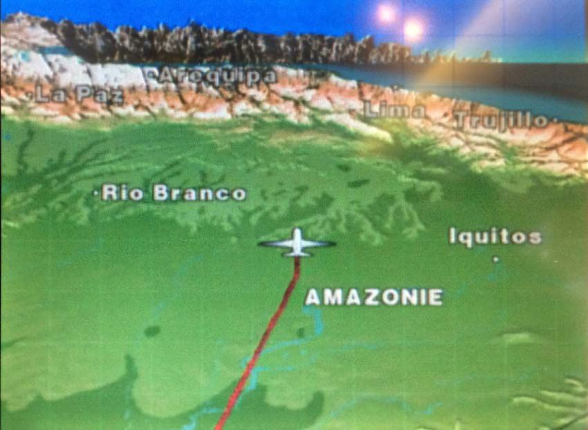 En approche de Lima. Captures d'écran. Ph. Delahaye.