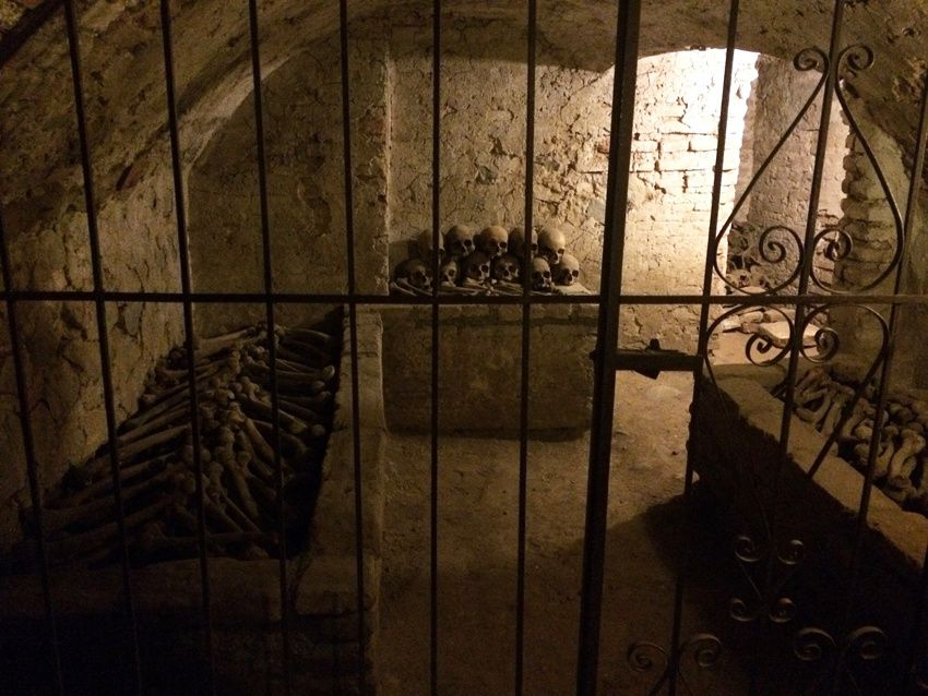 Les catacombes.