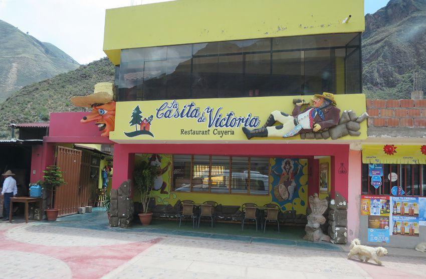 Autre restaurant spécialisé dans le cochon d'Inde. Ph. Delahaye.