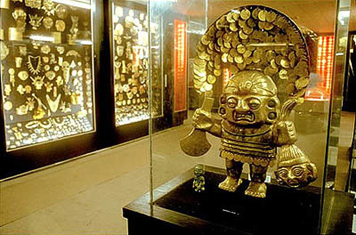 Le musée de l'Or à Lima. Ph. internet.