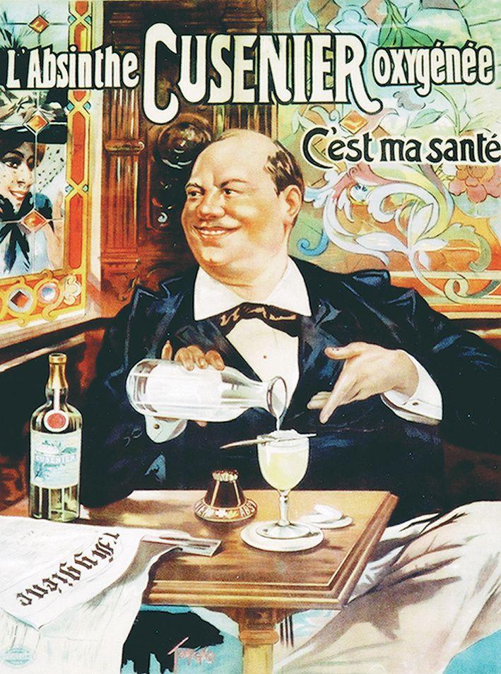 """Affiche lithographiée de Tamagno, 1896. Coll. Delahaye. Voir l'explication de l'affiche et de son auteur dans mon livre """"L'Absinthe-Les Affiches"""", 2002."""