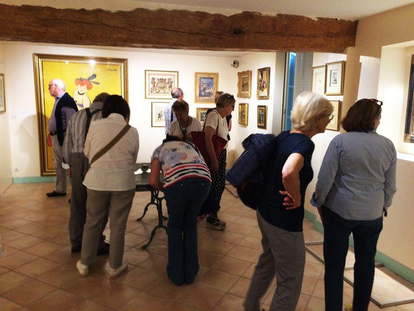 Le groupe de Charenton dans le musée.