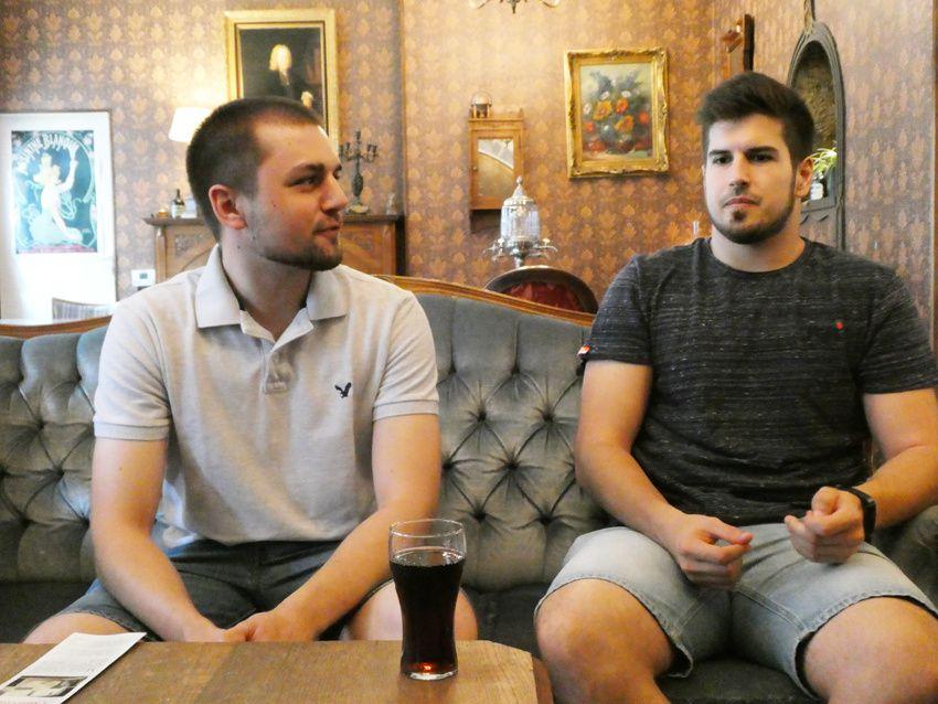 Jan et Siegfried au cours de l'interview. Ph. Delahaye.