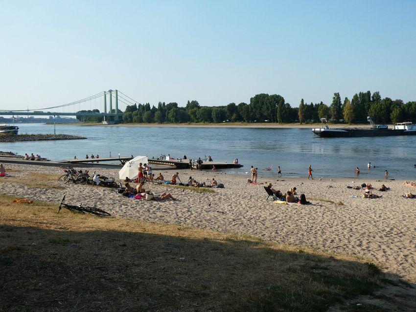 Le Rhin à Cologne en été 2018 ! Ph. Delahaye.