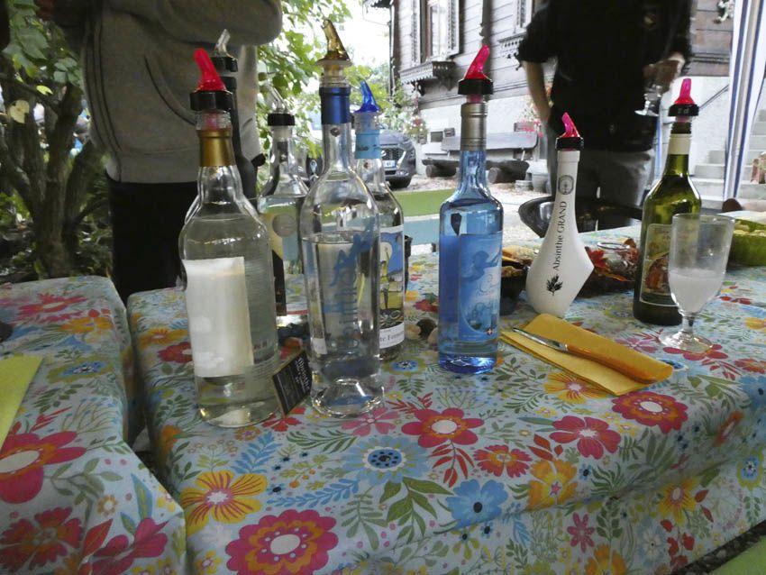 Quelques bouteilles proposées. Ph. Delahaye.