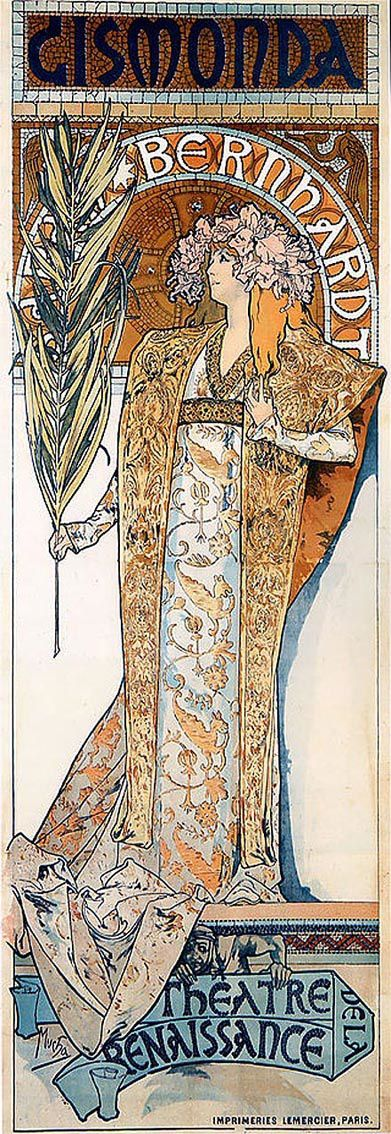 Sarah Bernhardt dans Gismonda, 1894.