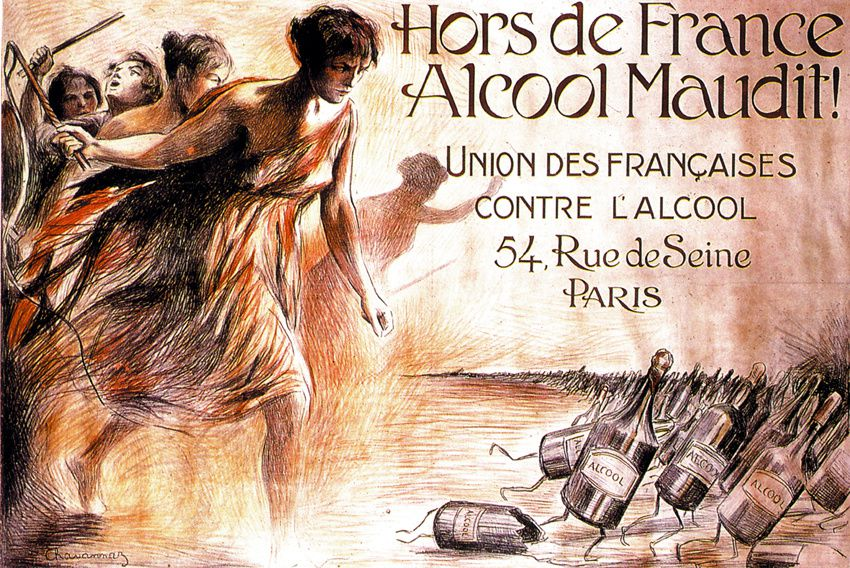 Affiche de Chavanaz pour l'Union des Françaises contre l'alcool. Bibliothèque Forney.