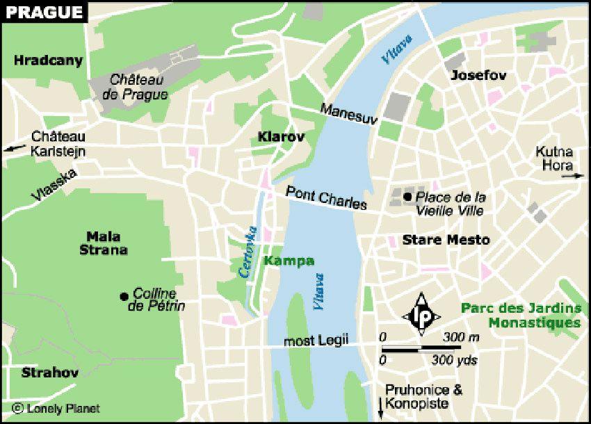 Rappel des différents quartiers de Prague.
