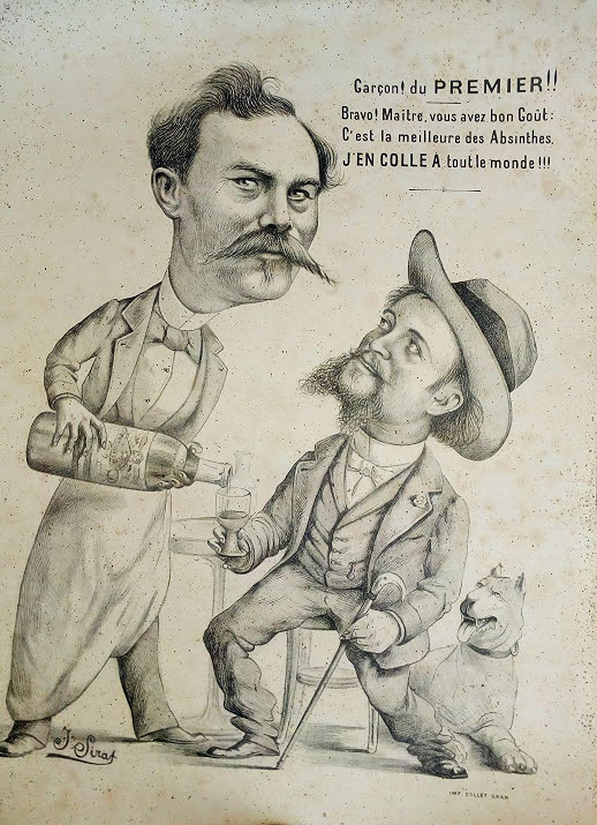 Joseph Sirat quittera Oran pour Paris en 1902. L'affiche est par conséquent antérieure à cette date. Collection Luauté.