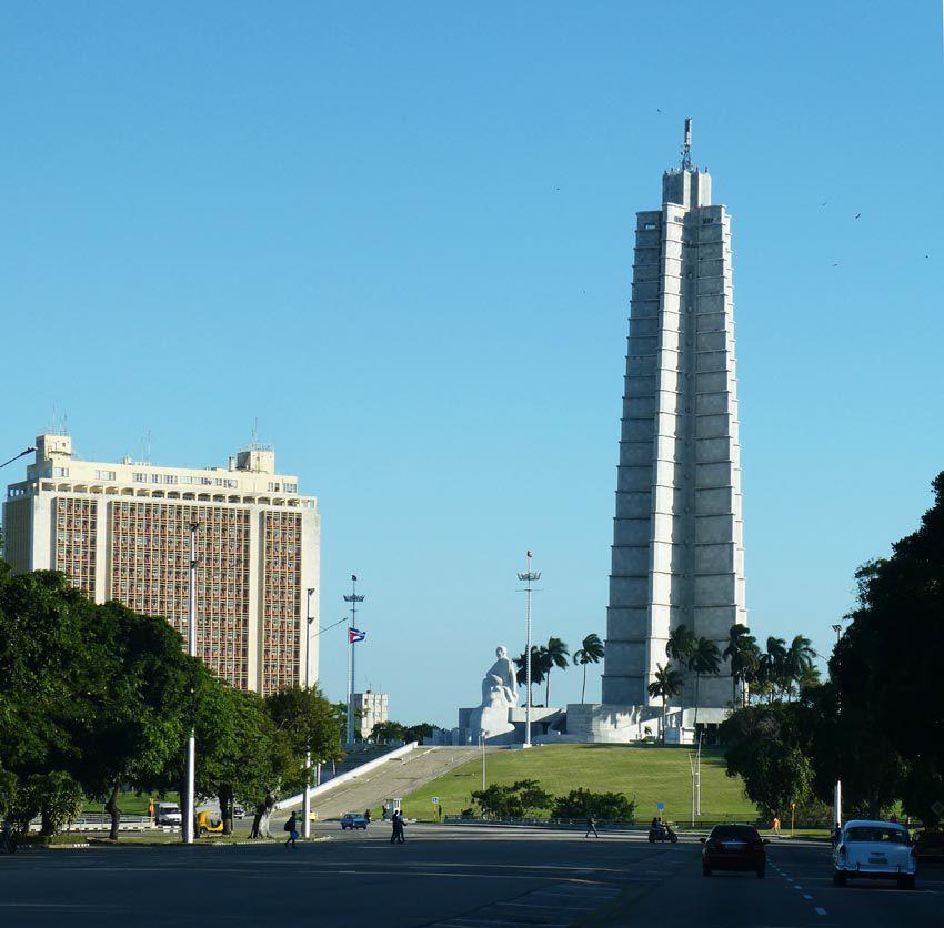 Mémorial José Marti, construit entre 1953 et 1958. Ph. Delahaye.