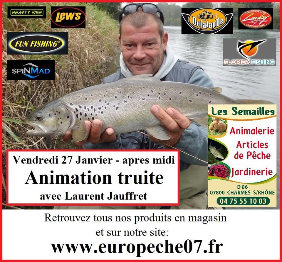 Animation truite aux Semailles (Europeche07) avec L.Jauffret