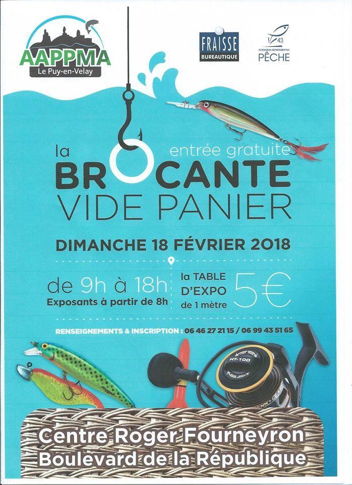 Brocante vide panier 18 février 2018 au Puy-en-velay