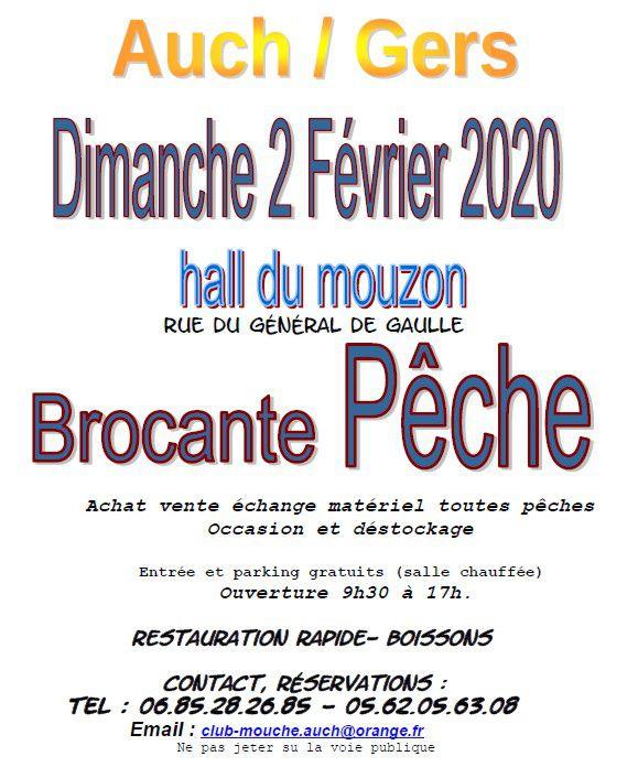Brocante pêche à Auch le dimanche 2 février 2020 ( avec la participation d'Alphonse Arias).