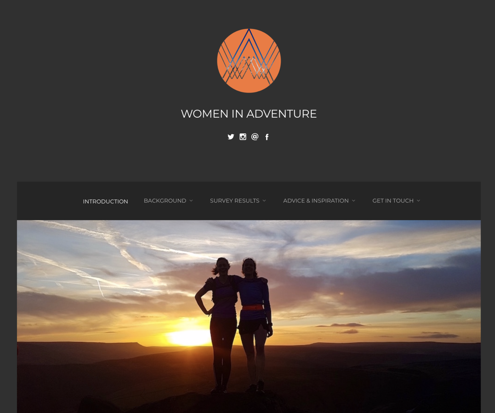 Le site Women in Adventure