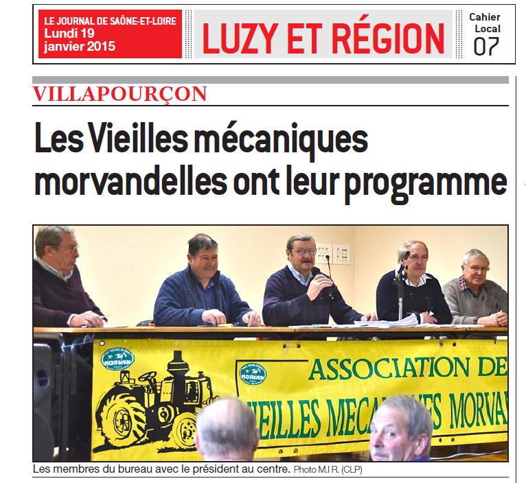 Assemblée générale du 17 janvier 2015 à Villapourçon