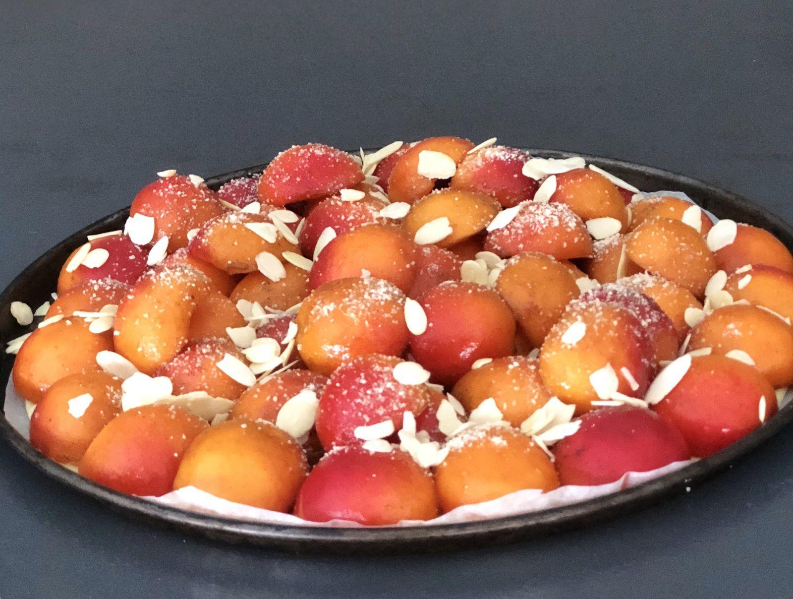 les ateliers de Sam, Sabine Bolzan, desserts, tartes, tarte aux abricots, abricots, l'été est dans l'assiette