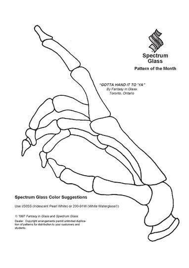 Vitrail ' Main squelette '