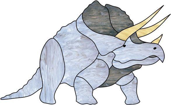 Vitrail ' Tricératops '