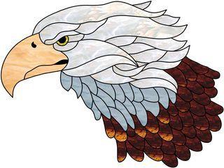 Vitrail ' Tête d'aigle '