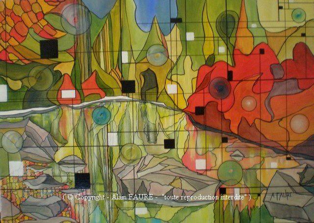 L'ETE INDIEN Acrylique sur toile : 70 x 50.....820 € - Les francophones du Canada l'appellent l'été des indiens, «une saison qui n'existe que dans le nord de l'Amérique» comme le chantait Joe Dassin. Ici, les grands espaces ont conservé leur pureté et où qu'ils soient, les nobles lacs reflètent par fierté et arrogance le fantastique décor qui les entoure.