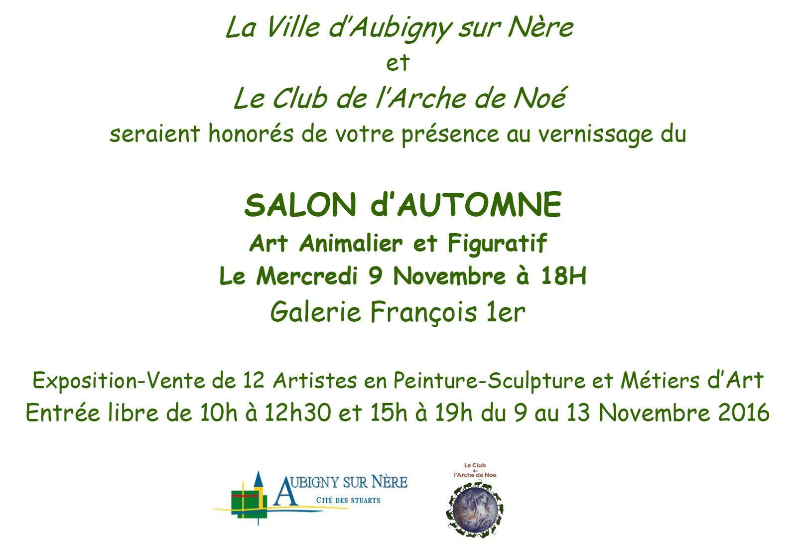 Salon d'Automne à Aubigny sur Nère du 9 au 13 novembre