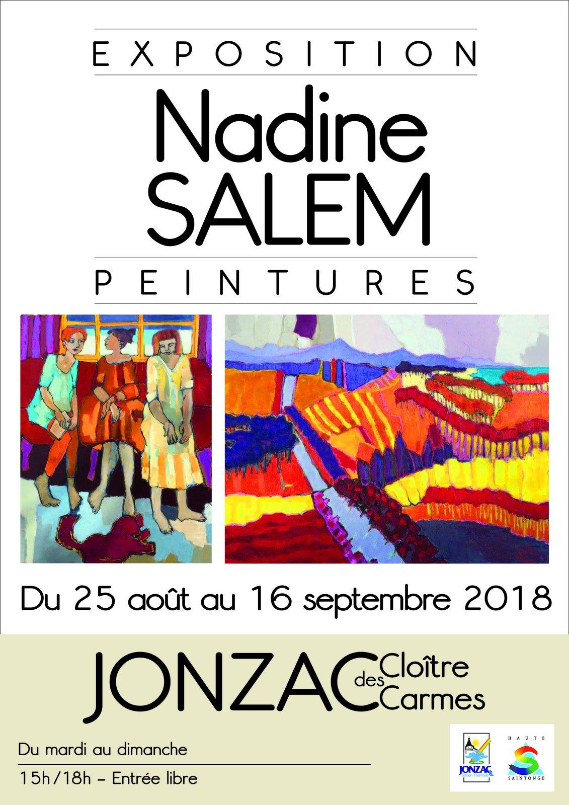 Du 25 août au 16 septembre 2018 au Cloître des Carmes de Jonzac.