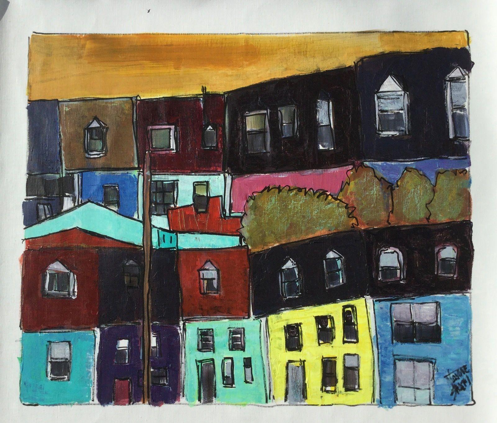 St John's Sherbrooke 65x50cm Acryl/toile