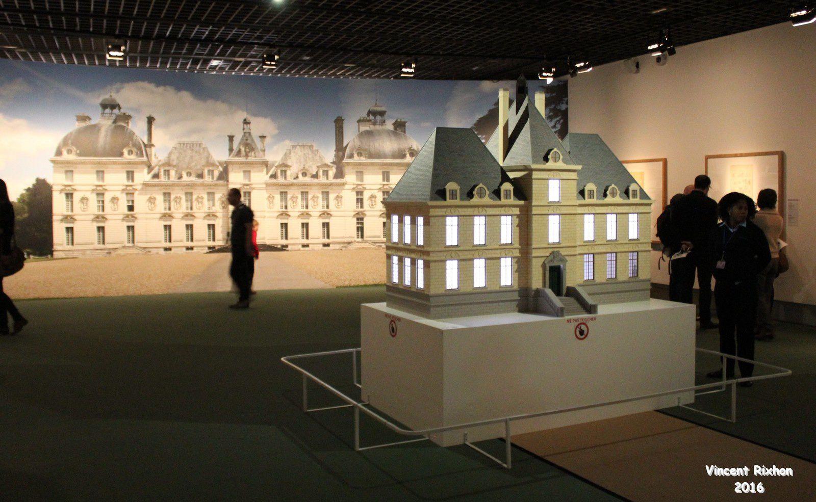 Paris herg l 39 exposition de papier mon blog passions b d - Le chateau de moulinsart ...
