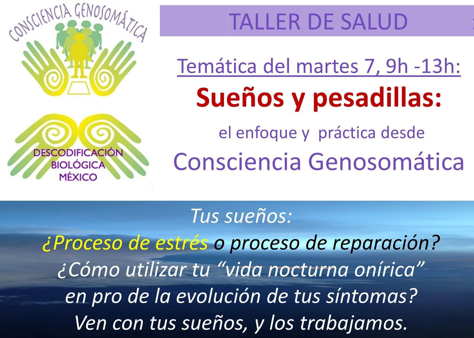 Este martes 7 de nov 9h -13h:  un nuevo tema en TALLER DE SALUD
