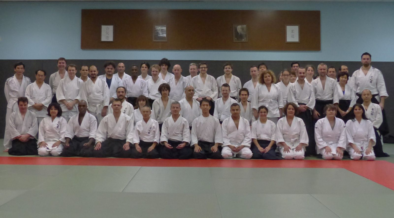 La photo de famille lors du stage au Kodokan (source : Aïki-kohaï)
