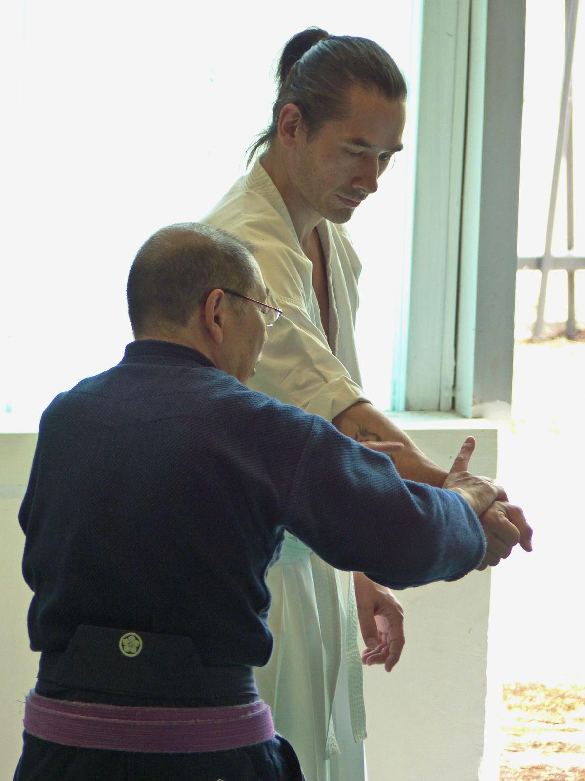 Le contrôle du corps démontré par Yasuhiro Irie (auteur : Aïki-kohaï)