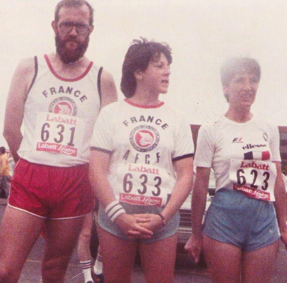 Marathon Chicoutimi ( Canada) 1984, renversé par un alcoolique, résultats, plusieurs opérations, beaucoup de problemes encore maintenant, j'ai encore couru les 42 km, 100 km, etc bien sur beaucoup moins vite enfin ainsi va la vie