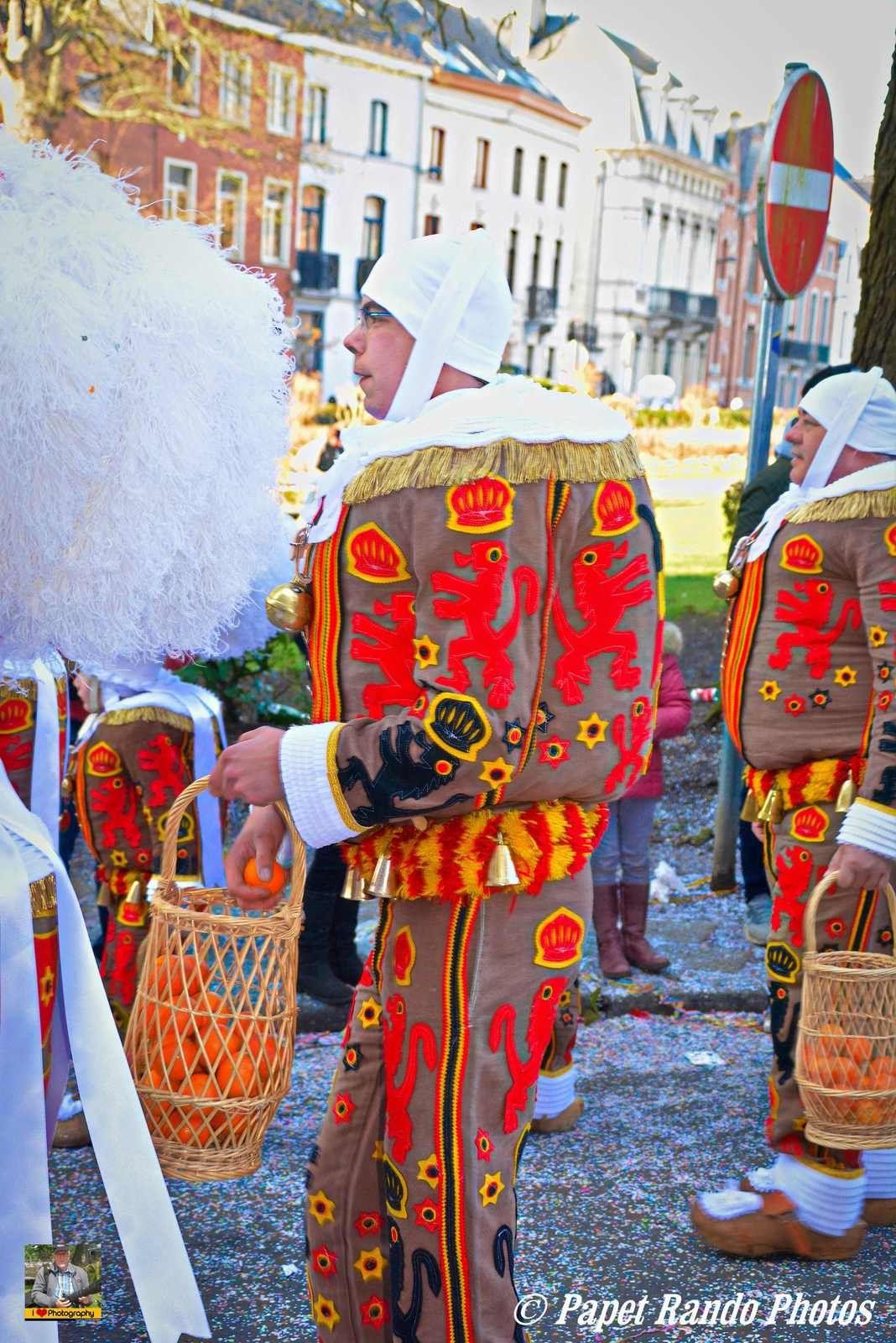 Cavalcade & Carnaval de Nivelles, 20 groupes & chars,  carnaval 11 societes de Gilles, sous un soleil magnifique avec la foule des grands jours