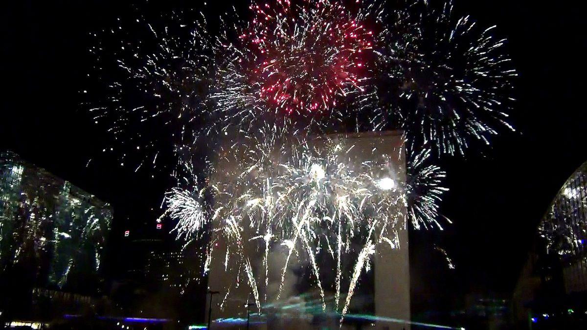 La Défense vue de nuit, septembre 2012