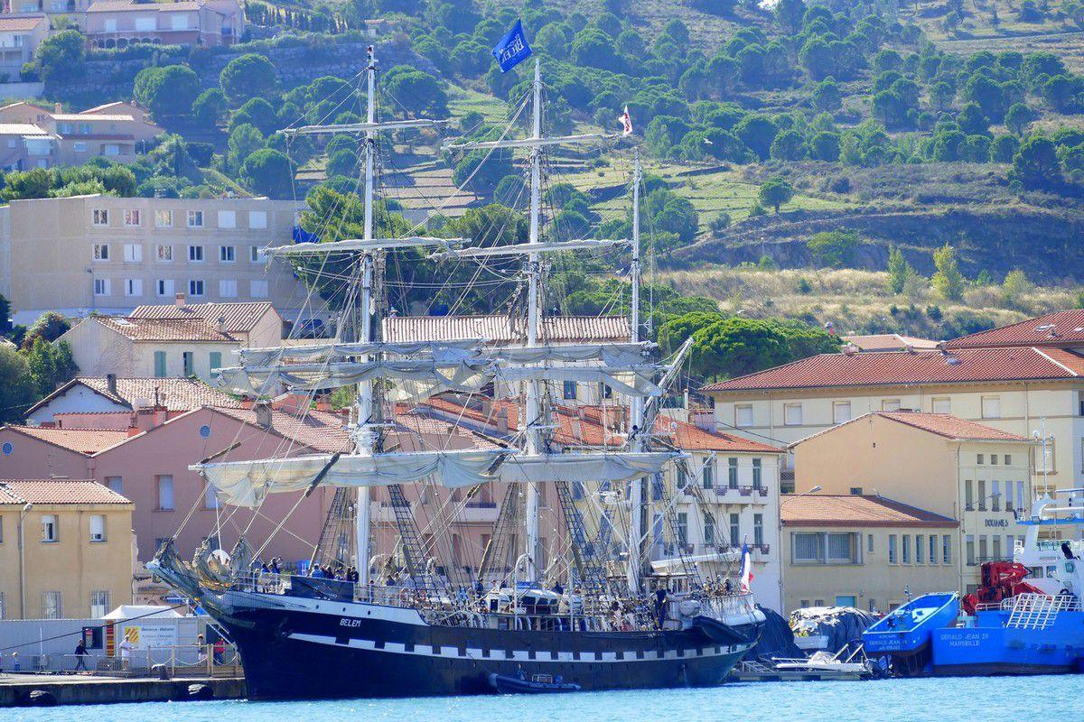 Le Bélem était amarré à Port Vendres les 8 et 9 octobre 2016 pour le bonheur des curieux et amateurs de bateaux (images personnelles)