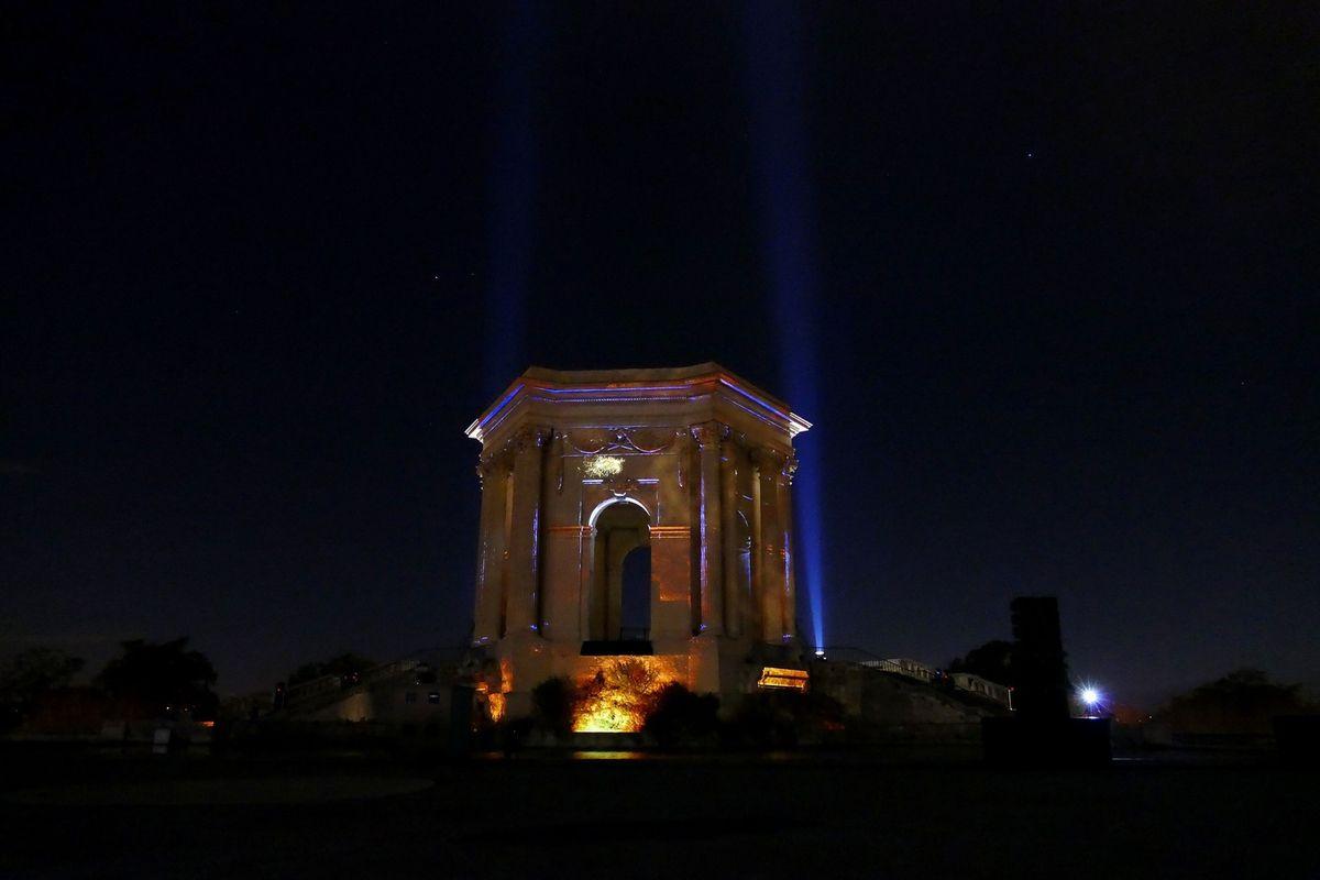 La place du Peyrou by night (décembre 2017, images personnelles)