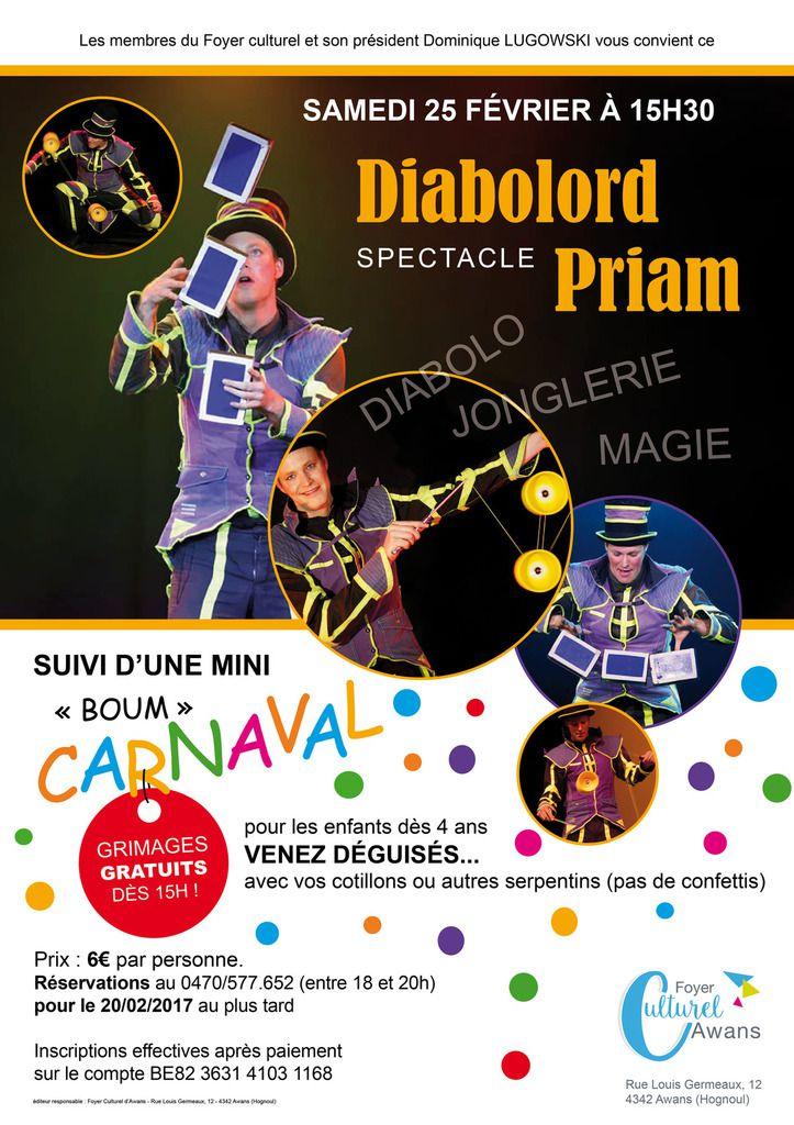 Carnaval - Diabolord Priaum, suivi d'une Boum